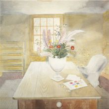 Garden Flowers on a Cottage Table Eric Ravilious