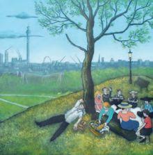 Mychael Barratt Primrose Hill – Summer, after Bruegel