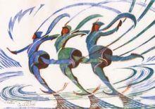 Cyril E Power Skaters, ca 1930
